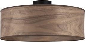 Plafonieră cu abajur din lemn de nuc Sotto Luce TSURI XL