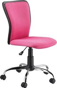 Scaun de birou ergonomic tapitat cu stofa Q99 Pink 40x42x97 cm