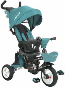 Tricicleta pliabila cu sezut reversibil Bebe Royal Milano Turcoaz