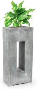 Blumfeldt Airflor, ghiveci pentru plante 45 x 100 x 27 cm din fibră de sticlă interior / exterior gri deschis