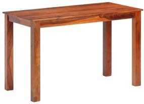 288114 vidaXL Masă de bucătărie, 120 x 60 x 76 cm, lemn masiv de sheesham