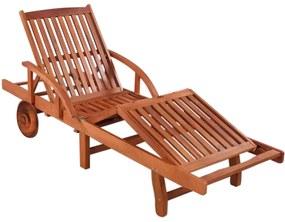 Pat de relaxare din lemn cu roti