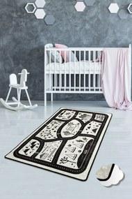 Covor pentru copii Black City - 100 x 160 cm