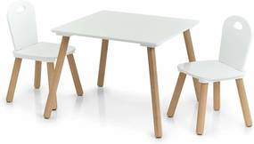 Set mobilier pentru copii Scandi, 2 scaune + masă, mobilier pentru copii Zeller