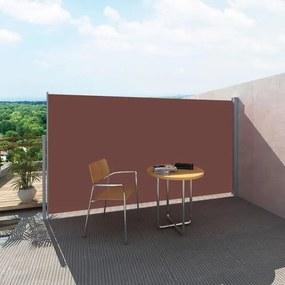 Panou separator pentru terasă 160 x 300 cm,Maro