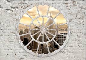 Fototapet Bimago - New York: A View through the Window + Adeziv gratuit 400x280 cm