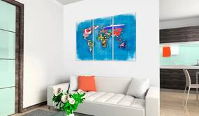 Tablou Bimago - Flags of the World - triptych 60x40 cm