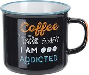 Cana Coffee din ceramica neagra 7 cm