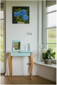 Măsuță de toaletă cu oglindă Ragaba Dressing Table, lungime 65 cm, turcoaz închis