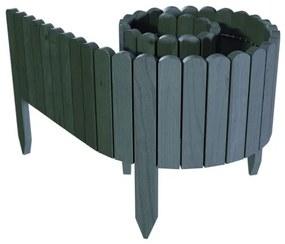 Gard de gradina decorativ din lemn, antracit, 200x40 cm