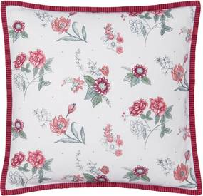 Fata de perna bumbac Flowers Red 40*40 cm