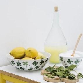 Bol Verde pentru Salata - Portelan Verde diametru(25cm) x inaltime(7.6cm)