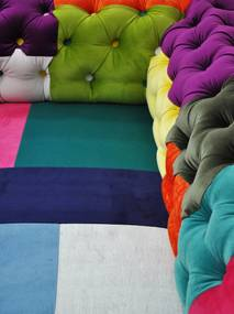 Sofa Chesterfield Patchwork  - Colour Waterfall