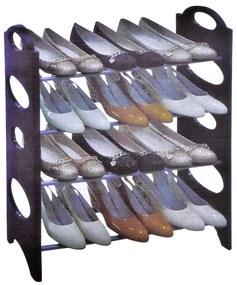 Suport pentru pantofi, 64x20x64 cm Negru