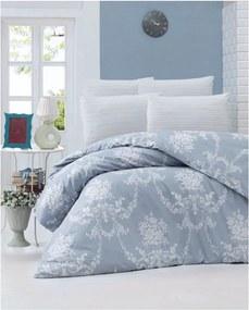 Lenjerie de pat din bumbac ranforce Gloria, 140 x 200 cm, albastru
