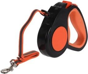 Lesă pentru câini Pet guide, portocaliu, 5 m