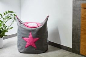 Cos pentru Rufe  - Pink Star