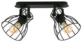 Lampa spot ALANO BLACK 2xE27/60W/230V