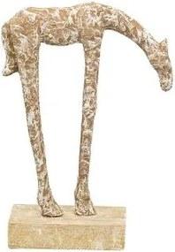 Decoratiune Artisanala din aluminiu / lemn ,21x8x31 cm - Bej