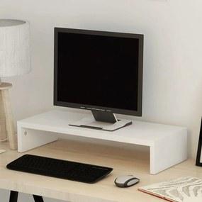 243661 vidaXL Suport monitor din placaj 60 x 23,5 x 12 cm, alb