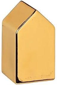 Obiect decorativ Christmas village gold- set de 4 buc