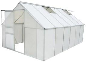 Seră din policarbonat și aluminiu 490 x 250 x 195 cm