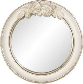 Oglinda decorativa perete polirasina crem patinat Ø 25 cm x 4 cm
