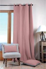 Draperie decorativă din bumbac DUO UNI roz prăfuit 135 x 240 cm 1 buc