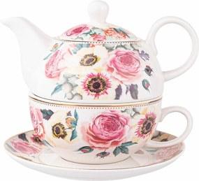Set Ceainic cu ceașcă Altom Anemon din porțelan ,