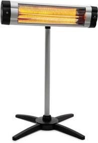 Blumfeldt Rising Sun Mono, încălzitor, 2500 W, IP34, reglabil pe înălțime, argintiu
