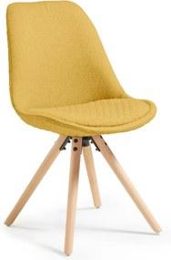 Set 4 scaune La Forma Lars, galben muștar