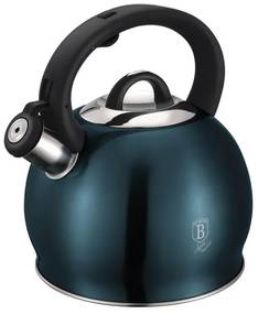 Ceainic din otel inoxidabil cu fluier 3 Litri Aquamarine Metallic Line Berlinger Haus - BH 1078