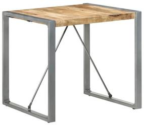 321603 vidaXL Masă de bucătărie, 80 x 80 x 75 cm, lemn de mango nefinisat