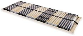 246462 vidaXL Bază de pat cu șipci, 42 șipci, 7 zone, 80 x 200 cm