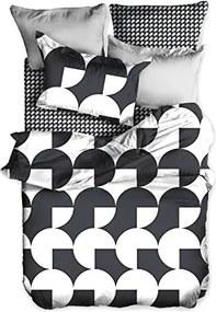 Lenjerie de pat din microfibră pentru pat de 1 persoană DecoKing Basic Schach, 135 x 200 cm