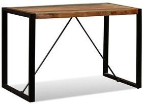 243998 vidaXL Masă de bucătărie, 120 cm, lemn masiv reciclat