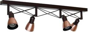 Lampa spot GORDON 4 4xE27/60W cupru