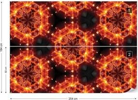 Fototapet GLIX - Kaleidoscope Red Light  + adeziv GRATUIT Papírová tapeta  - 254x184 cm