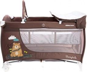 Patut pliabil cu doua nivele Fairytale Brown Bear