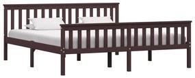 283237 vidaXL Cadru de pat, maro închis, 180 x 200 cm, lemn masiv de pin