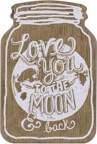 Moon Decoratiune perete, Lemn, Bej