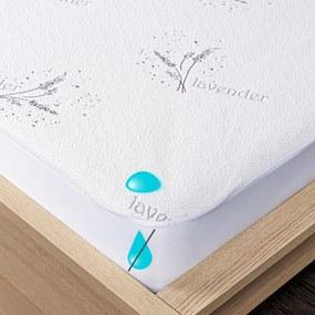 Protecție saltea 4Home Lavender impermeabilă cu bordură, 140 x 200 cm + 30 cm, 140 x 200 cm