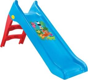 Tobogan de Gradina pentru Copii, cu Scara si Functie pentru Conectare Furtun de Apa, 50kg, 140cm, Albastru