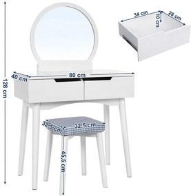 """Masă de toaletă  Louise """"White"""" Orleans"""