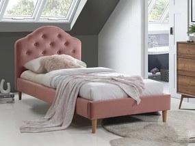 Pat Cristen roz din catifea - 90 x 200 cm