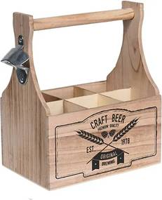 Suport din lemn pentru sticle 15.5x27 cm - 2 modele la alegere
