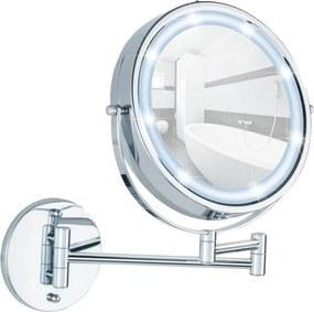 Oglindă cosmetică de perete cu LED Wenko Power-Loc Lumi