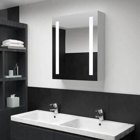 285117 vidaXL Dulap de baie cu oglindă și LED-uri, 50 x 13 x 70 cm