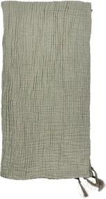 Cuvertură din bumbac pentru pat dublu Södahl Poetry, 200 x 260 cm, verde