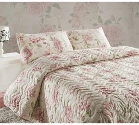 Cuvertură matlasată și față de pernă pentru pat de o persoană Eponj Home Care, 160 x 220 cm
